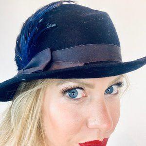 Vintage blue ladies hat